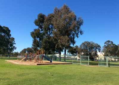 Photo of the school oval and playground