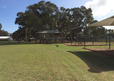 Photo of the school oval and playgrounds