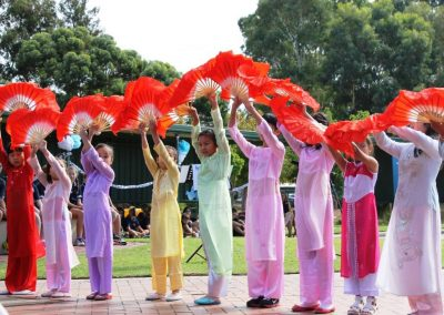 Photo of children participating in the dragon dance